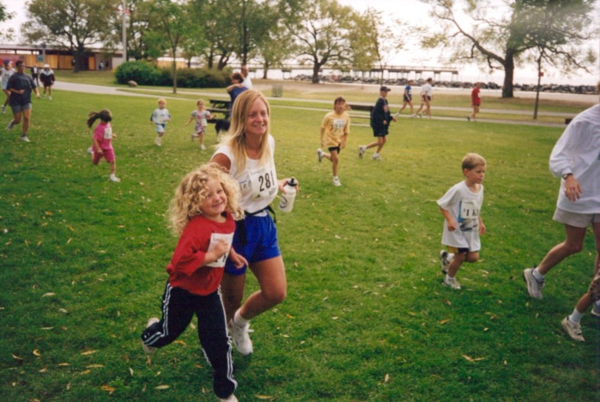 jogging en famille